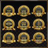 Vintage vector retro labels symbols set Royalty Free Stock Images