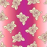 Vintage vector seamless pattern with  roses Stock Photo