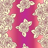 Vintage vector seamless pattern with  roses Royalty Free Stock Photo