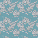 Vintage vector seamless pattern with iris flowers Stock Photography