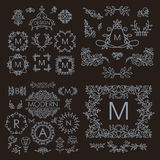 Vintage vector set of line design elements for Royalty Free Stock Photography