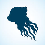 Vintage vector sketch of jellyfish Royalty Free Stock Photo