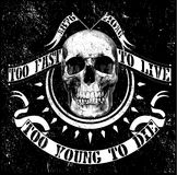 Vintage vector skull t shirt graphic design Royalty Free Stock Photo