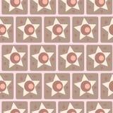Vintage vector stars, seamless pattern Stock Image