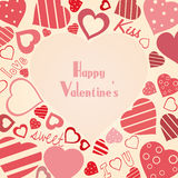 Vintage vector valentine's background Stock Images