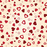 Vintage vector valentine's background Stock Photo
