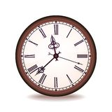 Vintage vector wall clock Stock Photography