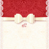 Vintage vector wedding card template Stock Photography