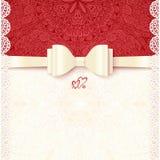 Vintage vector wedding card template vector illustration