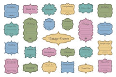 Vintage vectors frames on background. Vector Set of vintage frames on retro background Royalty Free Stock Photo