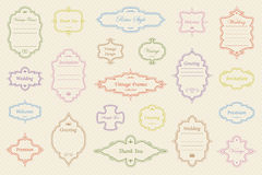 Vintage vectors frames on background. Vector Set of vintage frames on retro background Stock Photography