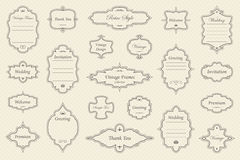Vintage vectors frames on background. Vector Set of vintage frames on retro background Stock Photos