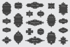 Vintage vectors frames on background. Vector Set of vintage frames on white background Stock Images