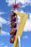 Vintage Vegas Sign. Public art on Fremont Street, Downtown Las Vegas stock image