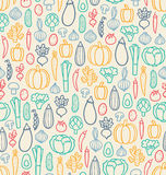 Vintage vegetables pattern Royalty Free Stock Photography