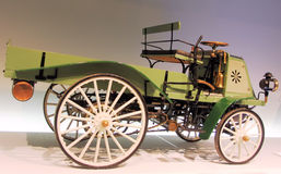 Vintage vehicle. 1899 Daimler motrized business vehicle Stock Images