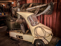 Vintage vehicle in boathouse, Goteborg, Sweden Royalty Free Stock Photography