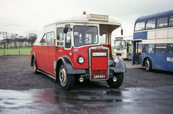 Vintage vehicle image. Scotland, UK - 1973: Vintage vehicle image.  Midland tow wagon Leyland PD registration number CRN 834 Royalty Free Stock Photo