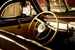 Vintage vehicle interior Royalty Free Stock Images