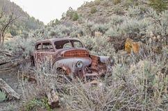 Vintage Vehicle in Sagebrush Stock Photography