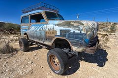 vintage vehicle in Terlingua Texas ghost town Royalty Free Stock Photography