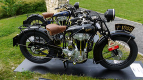 Vintage Vehicles, Antique Motorcycles Stock Image
