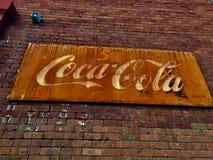 Vintage velho Coca Cola Sign foto de stock royalty free