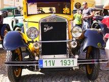 Vintage velho Skoda automobilístico no festival velho do carro imagens de stock royalty free