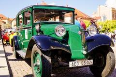 Vintage velho Tatra automobilístico no festival velho do carro imagem de stock royalty free