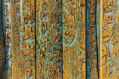 Vintage velho textura pintada da cerca Foto de Stock Royalty Free