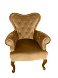 Vintage velvet armchair Royalty Free Stock Photos