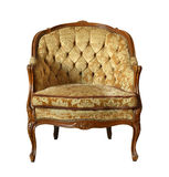 Vintage velvet chair Stock Photo