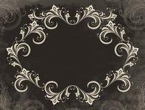 Vintage velvet frame Stock Image