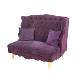 Vintage velvet luxury sofa Stock Photography