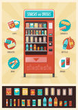 Vintage vending machine Stock Photo