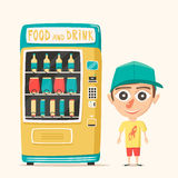 Vintage vending machine with drinks. Retro style. Purchase of water Stock Photo