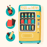 Vintage vending machine with food and drinks. Retro style Stock Photography