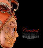 Vintage venetian carnival mask Royalty Free Stock Photo