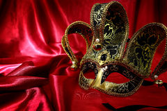 Vintage venetian carnival mask Stock Photos
