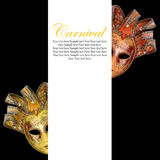 Vintage venetian carnival masks. With blank banner Royalty Free Stock Photos