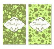 Vintage verde bonito floral Foto de Stock Royalty Free