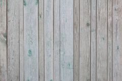 Vintage vertical gray colour wooden boards with remains paint as background Royalty Free Stock Photo