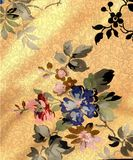 Vintage very old flowery style wall paper Royalty Free Stock Photos