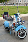 Vintage Vespa motor scooter Royalty Free Stock Photography