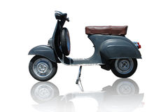 Vintage vespa scooter (path included). Vintage black vespa scooter. Vector path is included on file Vector Illustration
