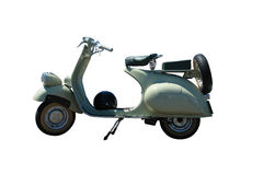 Vintage vespa scooter (path included). Vintage green vespa scooter. Vector path is included on file Royalty Free Illustration