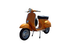 Vintage vespa scooter (path included). Vintage orange scooter. Vector path is included on file Stock Illustration