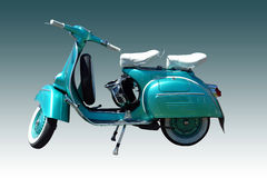 Vintage vespa scooter (path included). Vintage green scooter. Vector path is included on file Vector Illustration