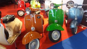 Vintage vespa selection Royalty Free Stock Photos