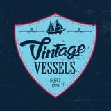 Vintage Vessels Label Poster Stock Photo